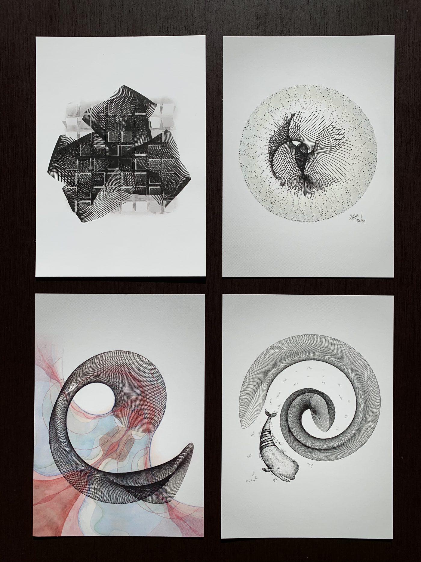 Collaboration Postcards (4 pieces)